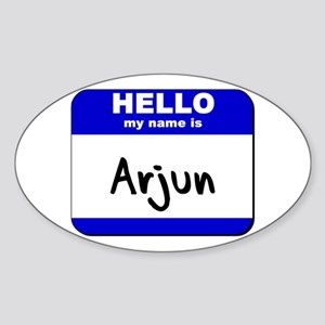 hello my name is arjun Oval Sticker