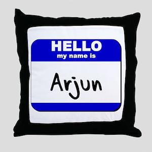 hello my name is arjun  Throw Pillow