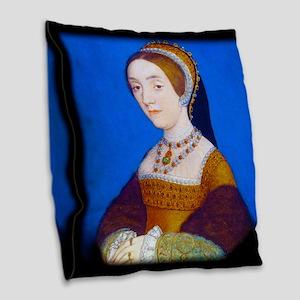 Catherine (or Kathryn) Howard Burlap Throw Pillow