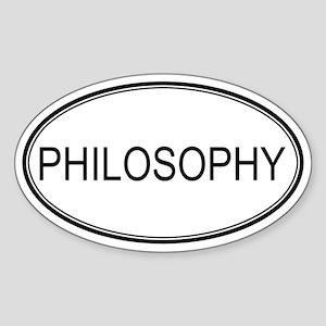 PHILOSOPHY Oval Sticker