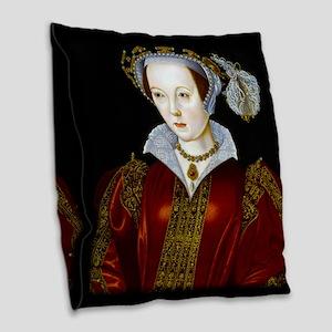 Katherine Parr Burlap Throw Pillow