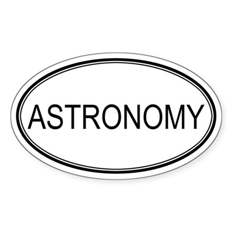ASTRONOMY Oval Sticker