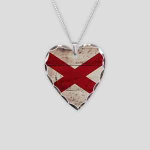 Wooden Alabama Flag3 Necklace