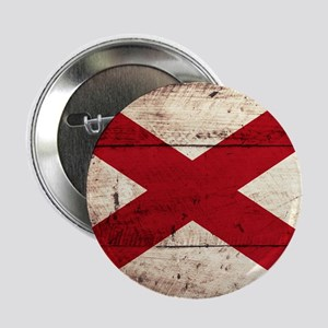 "Wooden Alabama Flag3 2.25"" Button (10 pack)"