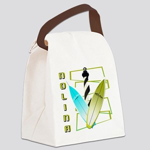 NOLINA OBLONGS ABSTRACT AVOCADO Canvas Lunch Bag