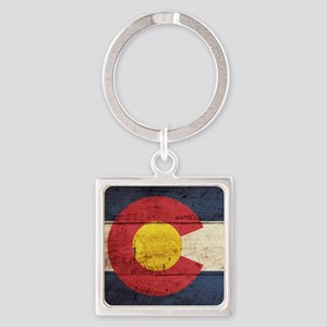 Wooden Colorado Flag3 Keychains