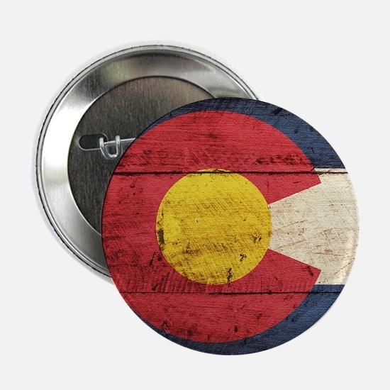 "Wooden Colorado Flag3 2.25"" Button (10 pack)"