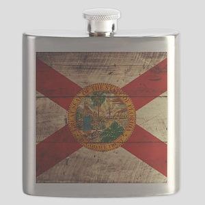 Wooden Florida Flag3 Flask