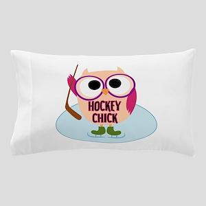 Owl Hockey Chick Pillow Case