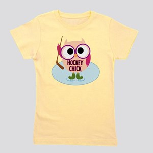 Owl Hockey Chick Girl's Tee