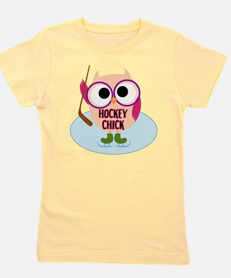 Owl Hockey Chick Girl's Tee
