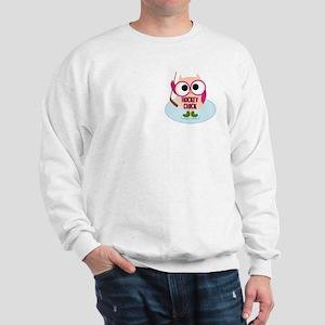 Owl Hockey Chick Sweatshirt