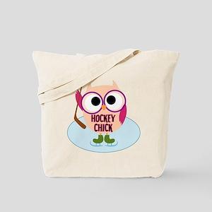 Owl Hockey Chick Tote Bag