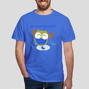 Owl Always Love Hockey Dark T-Shirt