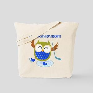 Owl Always Love Hockey Tote Bag