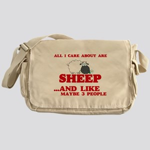 All I care about are Sheep Messenger Bag