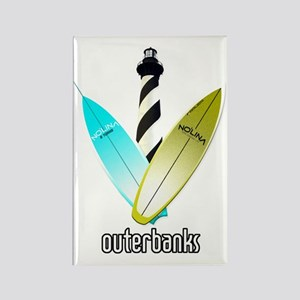 NOLINA OUTERBANKS SURF LIGHTHOUSE Rectangle Magnet