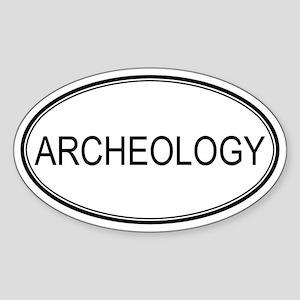ARCHEOLOGY Oval Sticker