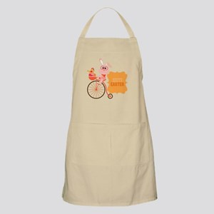 Easter Bunny on Bicycle Apron