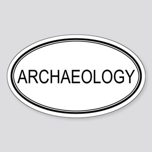 ARCHAEOLOGY Oval Sticker
