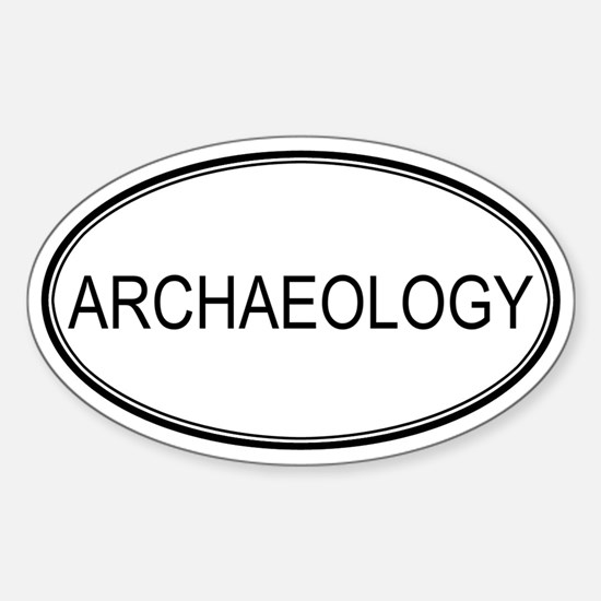 ARCHAEOLOGY Oval Decal
