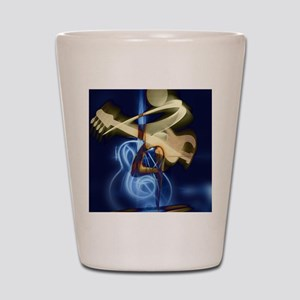 The Guitar Player, Abstract Design Shot Glass