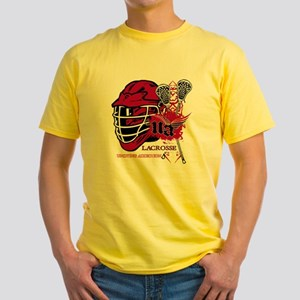 Undying Addiction Lacrosse  Yellow T-Shirt