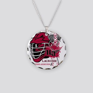 Undying Addiction Lacrosse  Necklace Circle Charm