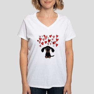 Cute Dachshund Women's V-Neck T-Shirt