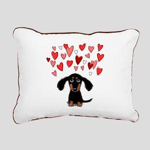 Cute Dachshund Rectangular Canvas Pillow