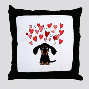 Cute Dachshund Throw Pillow