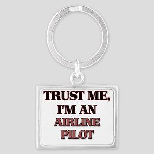 Trust Me, I'm an Airline Pilot Landscape Keychain