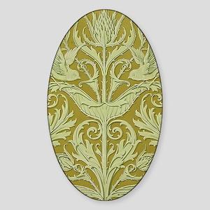 Kindle Sleeve Art Deco Design Sticker (Oval)