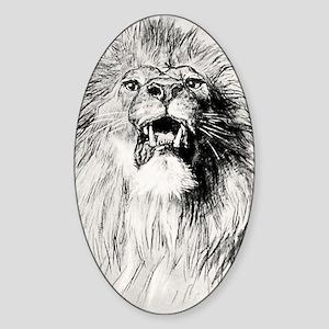 Kindle Sleeve Vintage Lion Sticker (Oval)