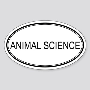 ANIMAL SCIENCE Oval Sticker