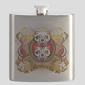 Romero Family Crest Flask