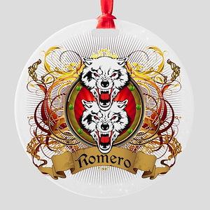 Romero Family Crest Round Ornament