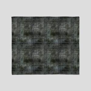 Industrial Grey Metal Throw Blanket