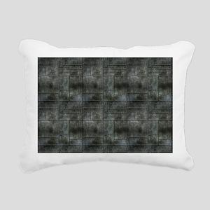 Industrial Grey Metal Rectangular Canvas Pillow
