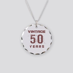 Vintage 50 Years Old Necklace Circle Charm
