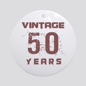 Vintage 50 Years Old Ornament (Round)