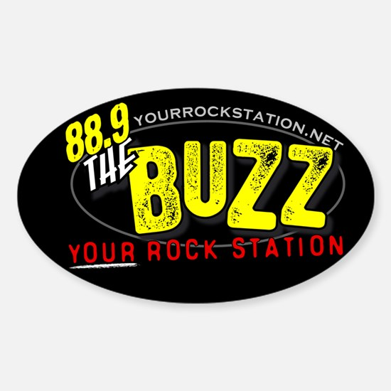 88.9 The Buzz Oval Decal