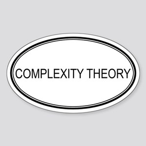 COMPLEXITY THEORY Oval Sticker