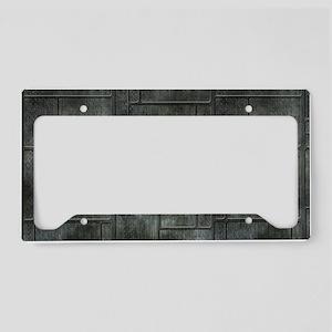Industrial Grey Metal License Plate Holder