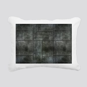 Industrial Grey Metal Rectangular Canvas Pillow