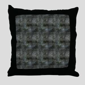 Industrial Grey Metal Throw Pillow