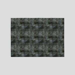 Industrial Grey Metal 5'x7'Area Rug