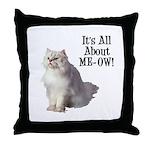 Meow Persian Cat Throw Pillow