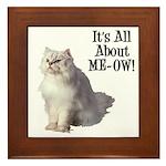 Meow Persian Cat Framed Tile