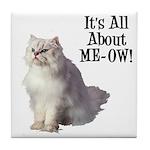 Meow Persian Cat Tile Coaster